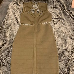 Army green guess dress